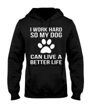 Rockin' Dog mom life Hooded Sweatshirt front
