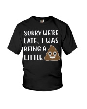 Sorry were late - kid Youth T-Shirt front