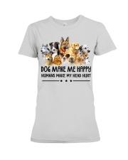 Dog Make Me Happy Premium Fit Ladies Tee thumbnail