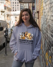 Dog Make Me Happy Hooded Sweatshirt lifestyle-unisex-hoodie-front-1