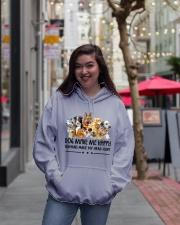 Dog Make Me Happy Hooded Sweatshirt lifestyle-unisex-hoodie-front-2