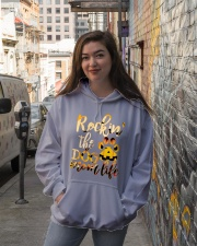 Rockin' Dog mom life Hooded Sweatshirt lifestyle-unisex-hoodie-front-1