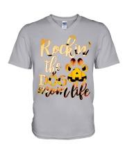Rockin' Dog mom life V-Neck T-Shirt thumbnail