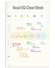 Vocal EQ Cheat Sheet 11x17 Poster front