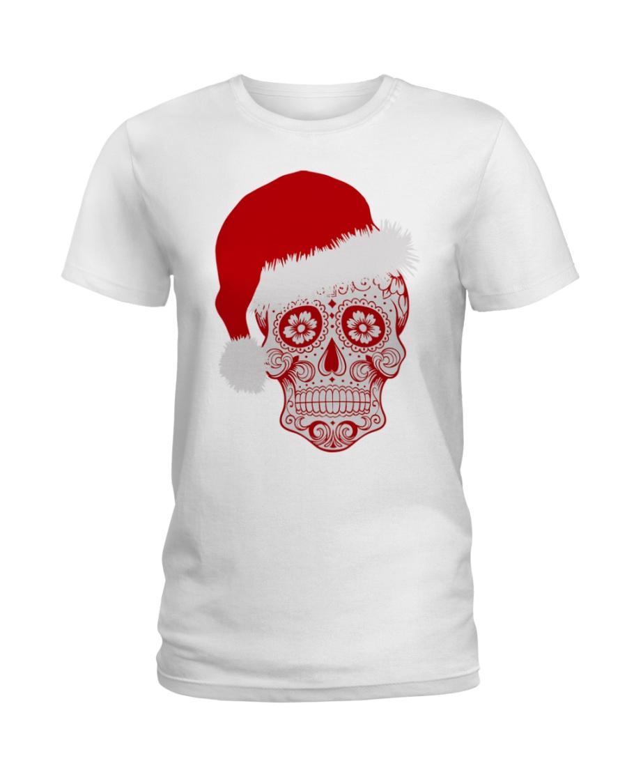 Sugar Skull Xmas tee Ladies T-Shirt