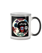 I love you to the moon and back - Hubby Color Changing Mug color-changing-right
