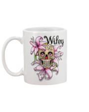 Sugar skull hubby and wifey mugs Mug back