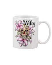 Sugar skull hubby and wifey mugs Mug front
