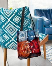 Home is where your yarn stash is All-over Tote aos-all-over-tote-lifestyle-front-01
