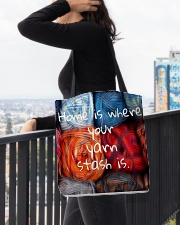 Home is where your yarn stash is All-over Tote aos-all-over-tote-lifestyle-front-05