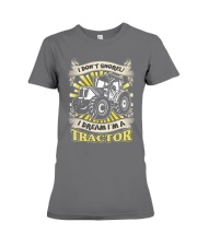I DON'T SNORE I DREAM I'M A TRACTOR T-Shirt Premium Fit Ladies Tee thumbnail