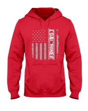 Coal Miner Shirt - American Flag Proud Coal Miner Hooded Sweatshirt thumbnail