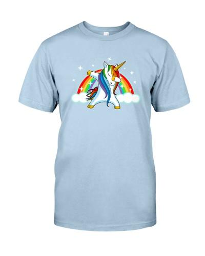 Unicorn Dabbing Dance Rainbow And Star T Shirt