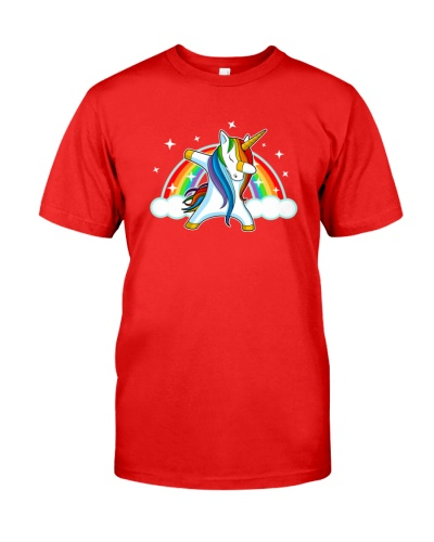 Unicorn Dabbing Dance Rainbow And Star T Shirt
