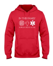 Firefighter Police Nurse In this Family Hooded Sweatshirt thumbnail