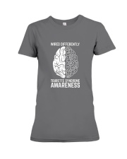 Wired Differently Tourette Syndrome Awareness T-Sh Premium Fit Ladies Tee thumbnail