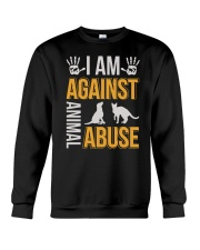 I Am Against Animal Abuse Rescue Rights Sheltet Crewneck Sweatshirt thumbnail