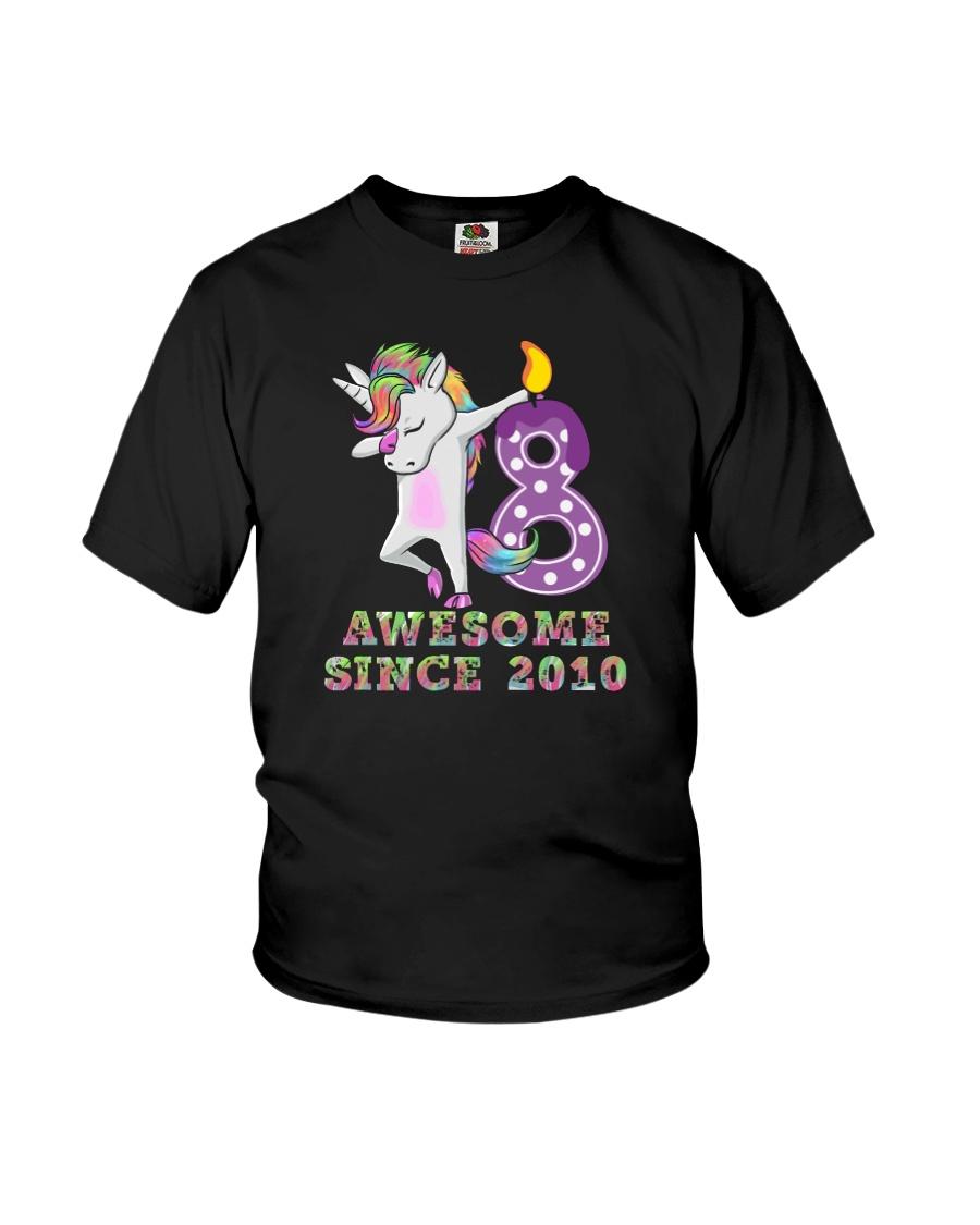 Unicorn Dabbing Awesome Since 2010 - 8th Birthday  Youth T-Shirt