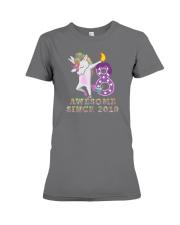 Unicorn Dabbing Awesome Since 2010 - 8th Birthday  Premium Fit Ladies Tee thumbnail