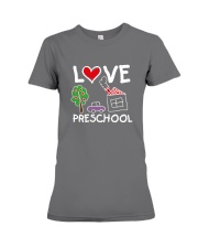 Preschool Teacher Love Preschool T-Shirt Premium Fit Ladies Tee thumbnail