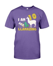 Llama 10th Birthday Llamazing Shirt for Girls Premium Fit Mens Tee thumbnail