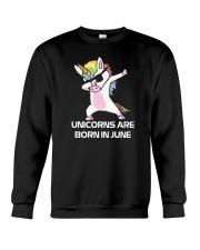 Unicorns are Born in JUNE Cute Dabbing Birthday Crewneck Sweatshirt thumbnail