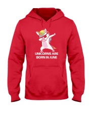 Unicorns are Born in JUNE Cute Dabbing Birthday Hooded Sweatshirt thumbnail
