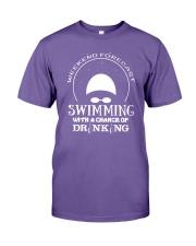 Weekend Forecast Swimming T-Shirt Premium Fit Mens Tee thumbnail
