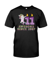Unicorn Dabbing Awesome Since 2007 - 11th Birthday Classic T-Shirt thumbnail