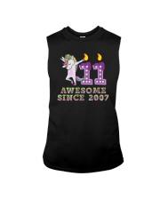 Unicorn Dabbing Awesome Since 2007 - 11th Birthday Sleeveless Tee thumbnail