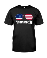 'Merica Patriotic Independence Day USA Summer Classic T-Shirt thumbnail
