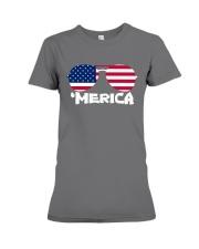 'Merica Patriotic Independence Day USA Summer Premium Fit Ladies Tee tile