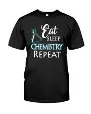 Funny Eat Sleep Chemistry Repeat TShirt Classic T-Shirt front