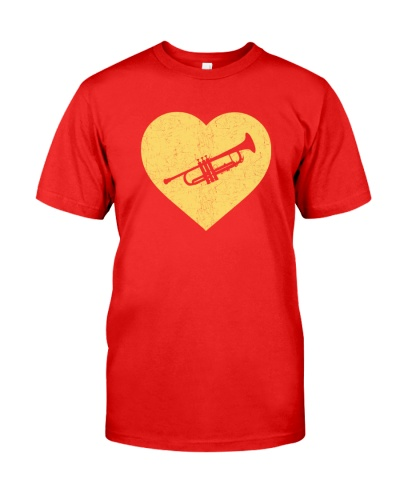 I Love Trumpet HearT-Shirt Funny Marching Band