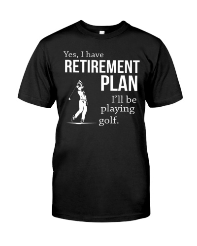 Golfing Retirement Plan Golfing and Golfer Gift