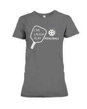 Live Laugh Play Pickleball T-shirt Pickleball Gift Premium Fit Ladies Tee thumbnail