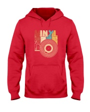 Retro Distressed Vinyl Record Turntable T-Shirt Hooded Sweatshirt thumbnail