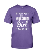 It's Not A Party Until A Wisconsin Girl Walks Premium Fit Mens Tee thumbnail