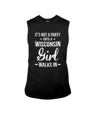 It's Not A Party Until A Wisconsin Girl Walks Sleeveless Tee thumbnail