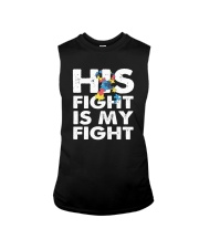 His Fight is My Fight Autism Awareness and Support Sleeveless Tee thumbnail
