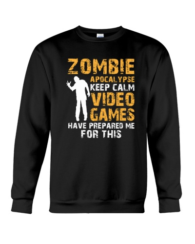 Keep Calm Zombie Apocalypse Funny Gamer