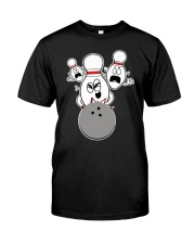 Bowling Pins Knocked Down Strike Scared Nut Classic T-Shirt front