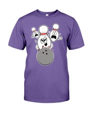 Bowling Pins Knocked Down Strike Scared Nut Premium Fit Mens Tee thumbnail