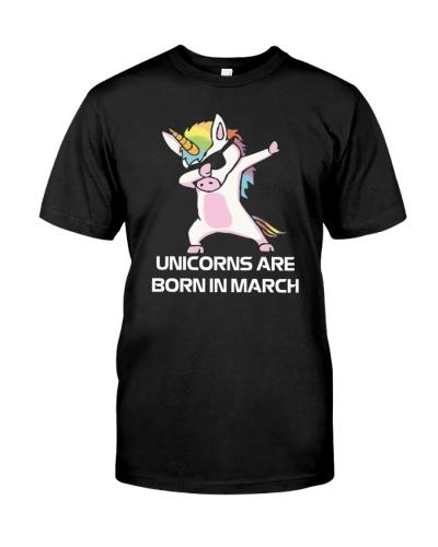 Unicorns are Born in MARCH Cute Dabbing Birthday