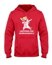 Unicorns are Born in MARCH Cute Dabbing Birthday Hooded Sweatshirt thumbnail