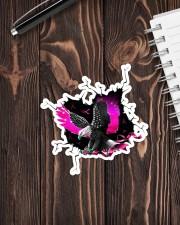 Eagle Breast Cancer Crack Sticker - Single (Vertical) aos-sticker-single-vertical-lifestyle-front-05
