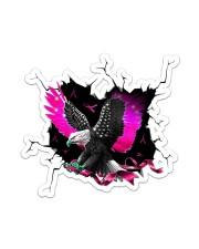 Eagle Breast Cancer Crack Sticker - Single (Vertical) front