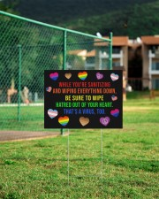 LGBT Hatred Of Your Heart Ys 24x18 Yard Sign aos-yard-sign-24x18-lifestyle-front-21