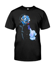 Diabetes Rose - Never Give Up Classic T-Shirt front