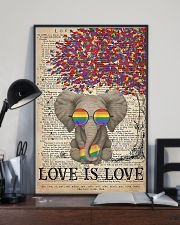 LGBT - Elephant Love Is Love  11x17 Poster lifestyle-poster-2